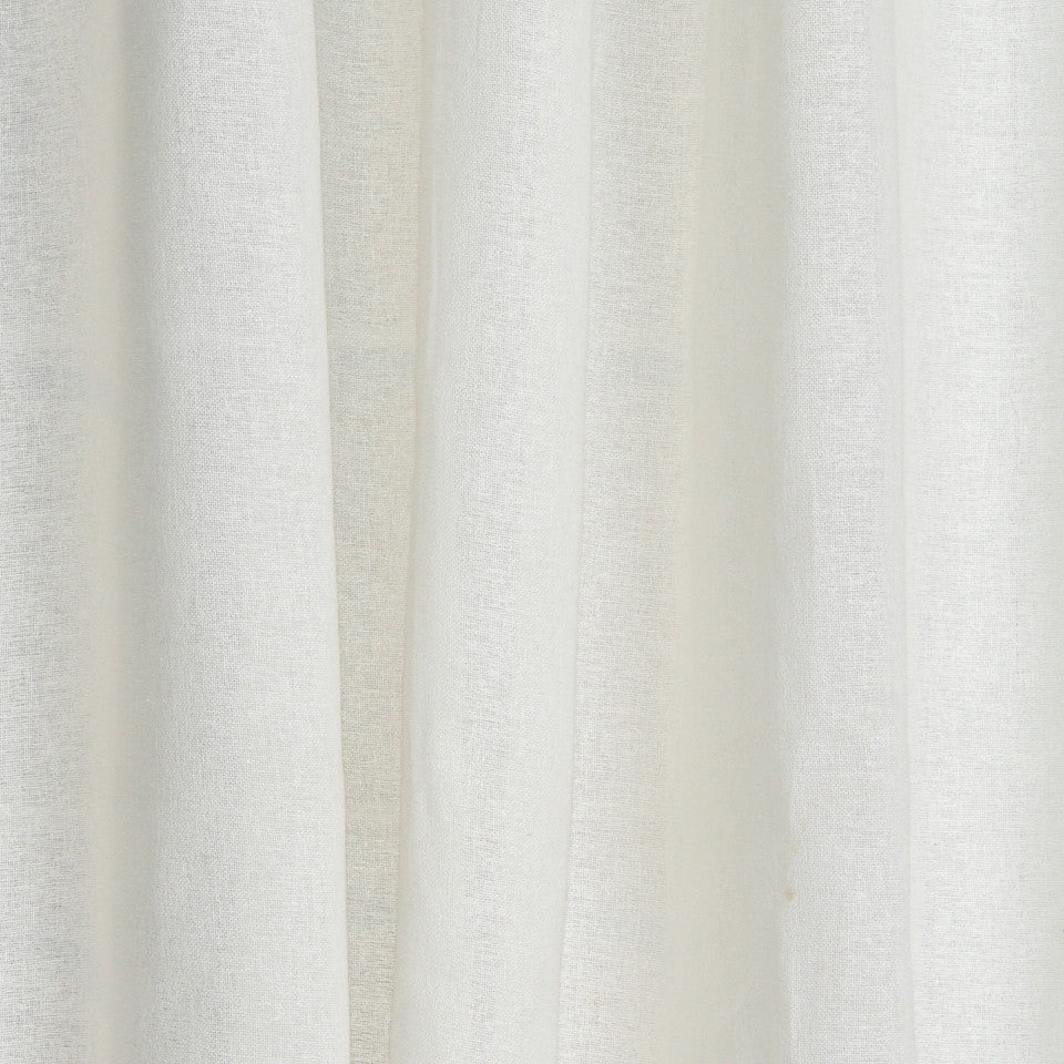 SOLID LINEN SHEERS Rizer Fabric - Cloud
