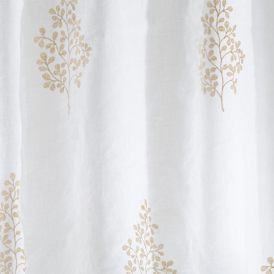Patterned Sheers Pearl Drop Fabric - Wheat