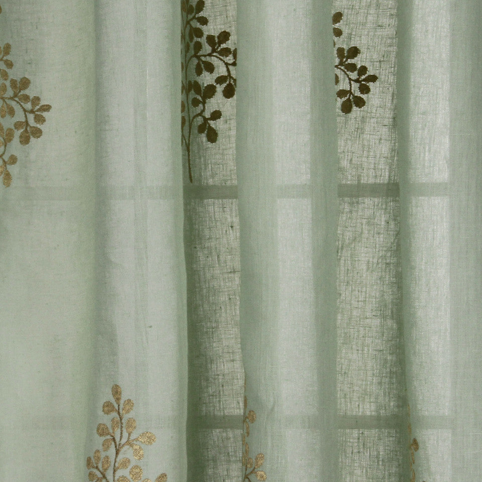 NATURAL SHEERS LIGHT NEUTRALS Pearl Drop Fabric - Sea