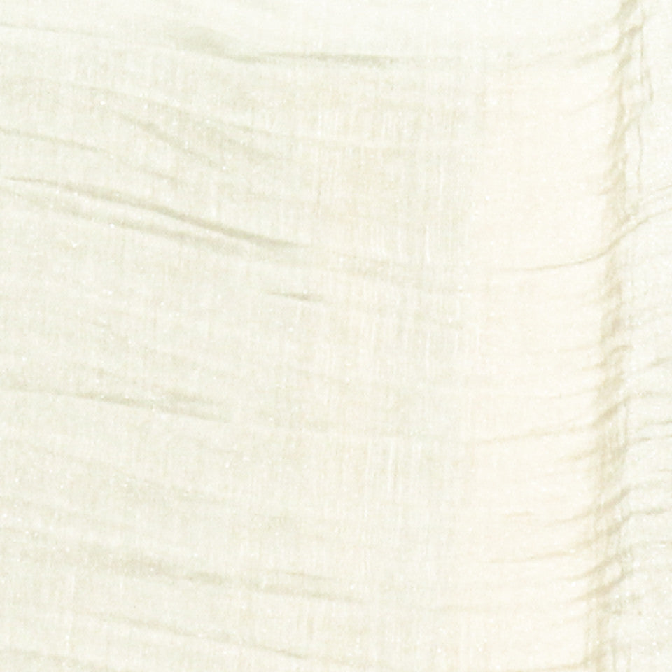 TEXTURED SHEERS Sheer Dazzle Fabric - Alabaster