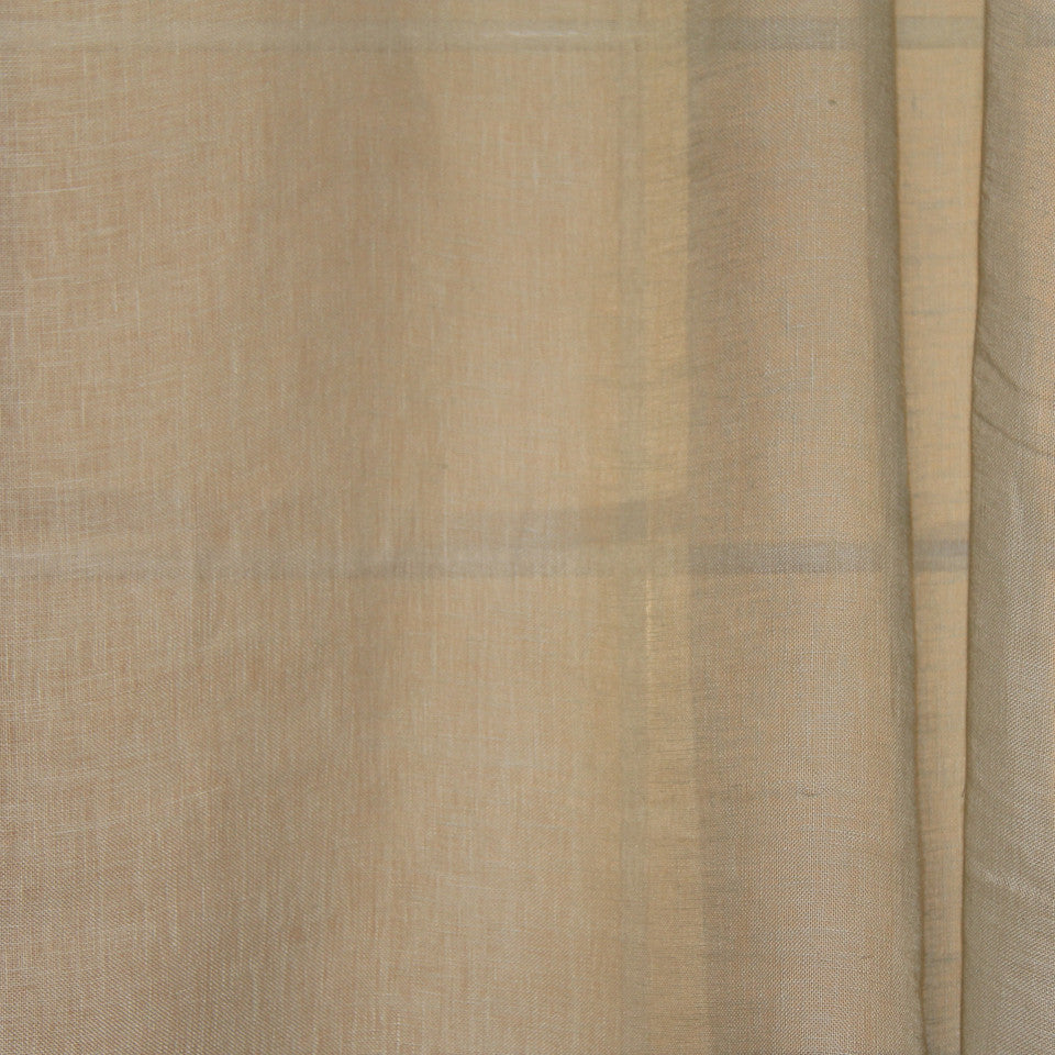 SOLID LINEN SHEERS Simple Road Fabric - Sea