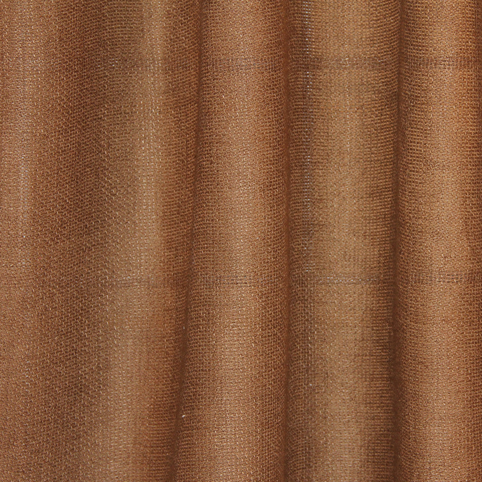 SOLID LINEN SHEERS Outside View Fabric - Pecan