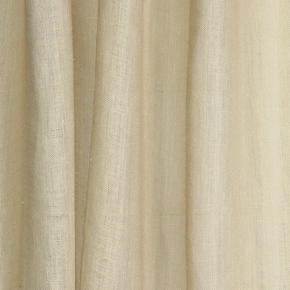 SOLID LINEN SHEERS Solid Base Fabric - Parchment