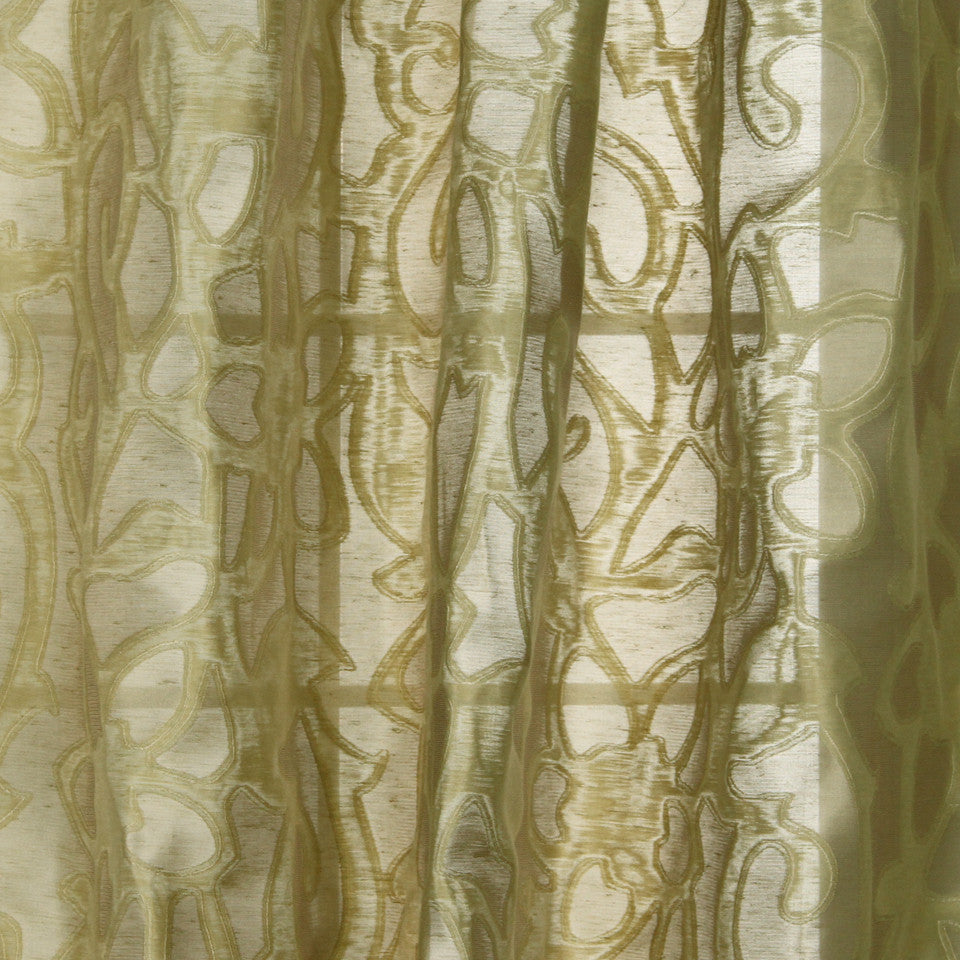 MODERN SHEERS Cordita Fabric - Dill