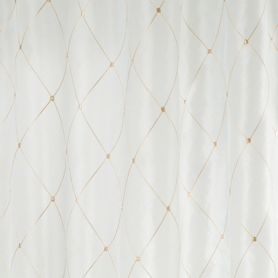 Patterned Sheers Lined Diamonds Fabric - Cream