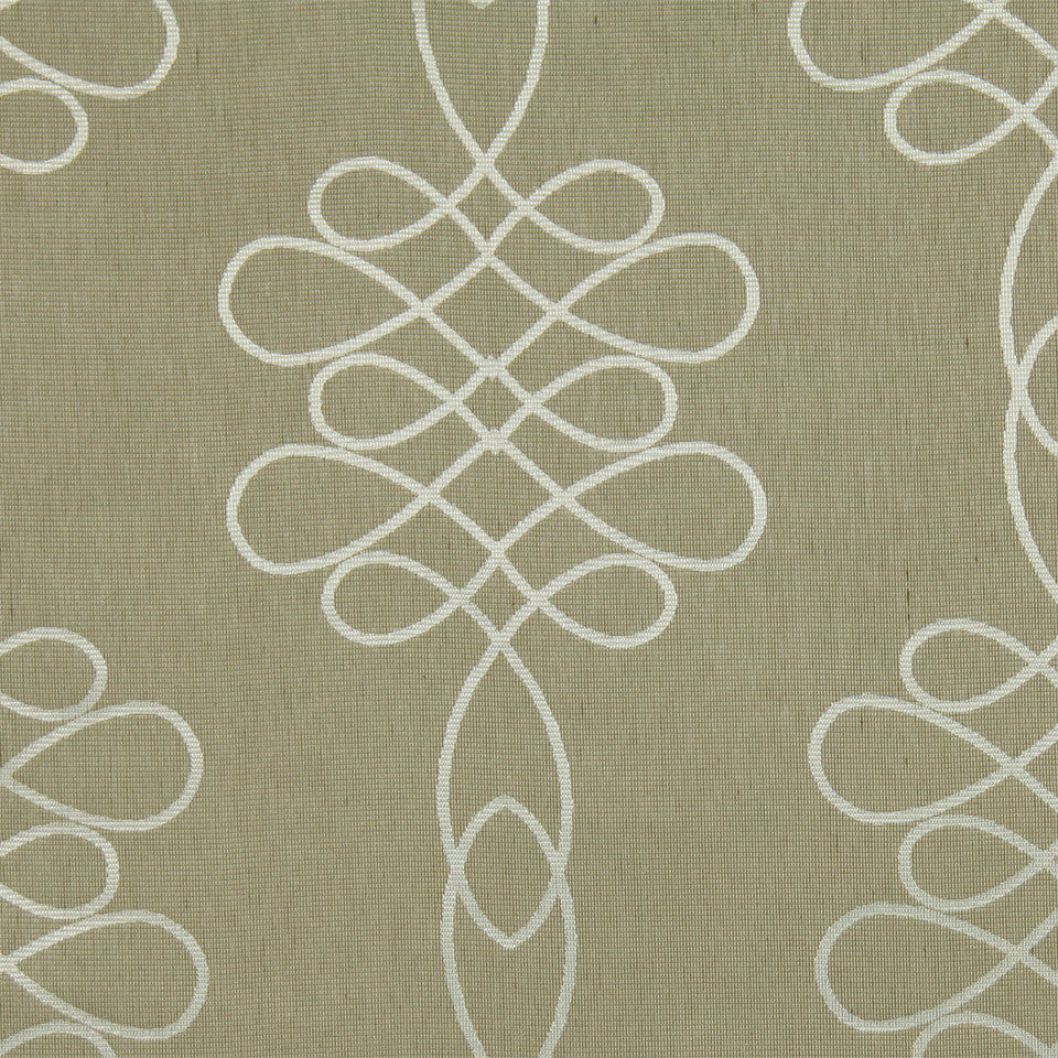 MODERN SHEERS Denning Fabric - Tea Stain