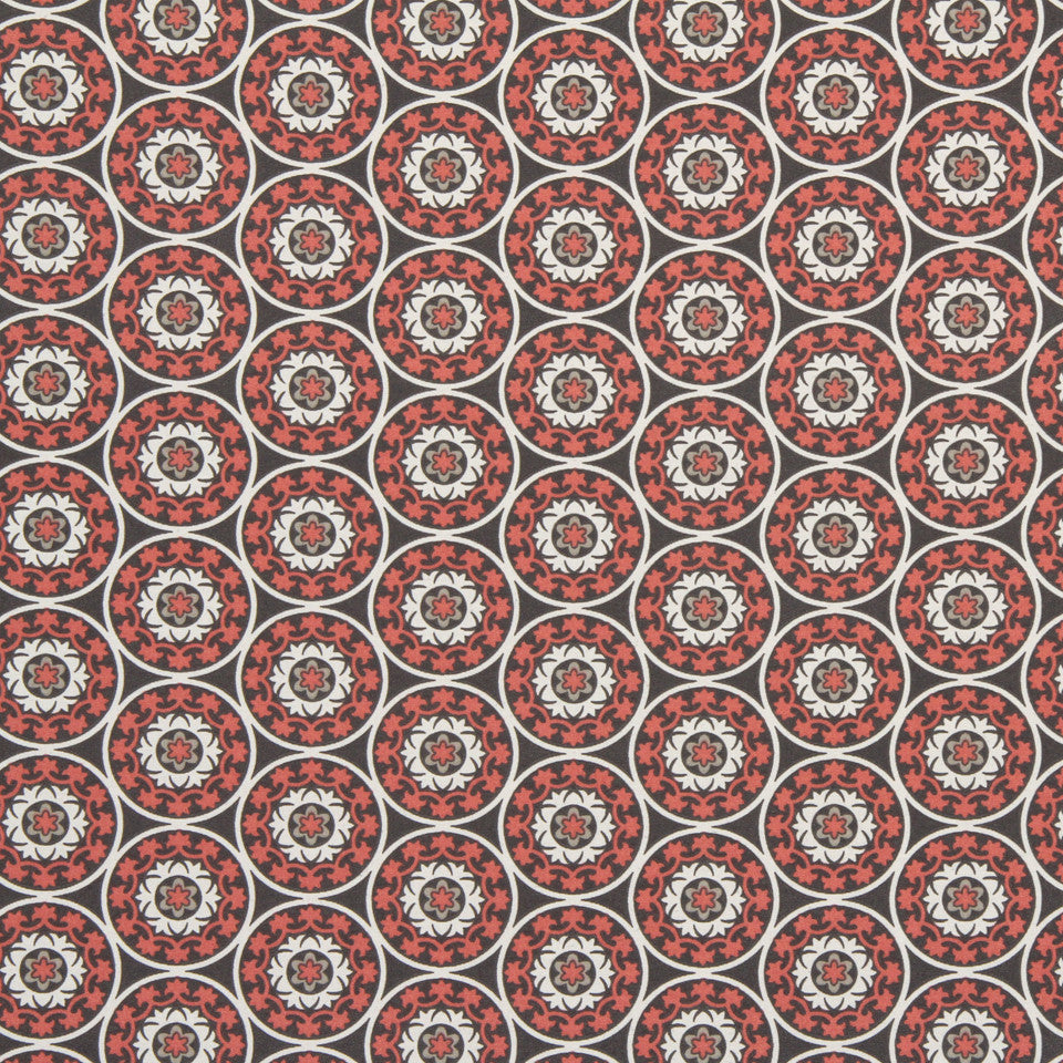 Tilescene Fabric - Coral
