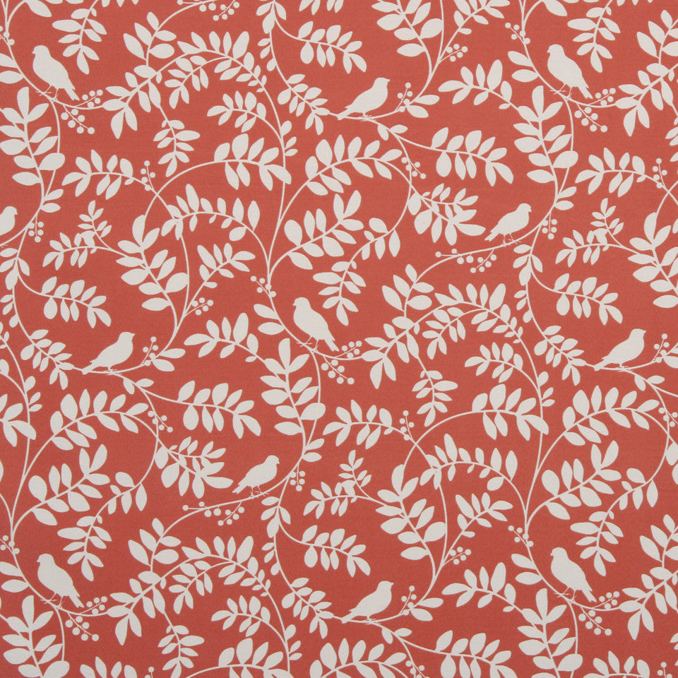 New Botany Fabric - Coral