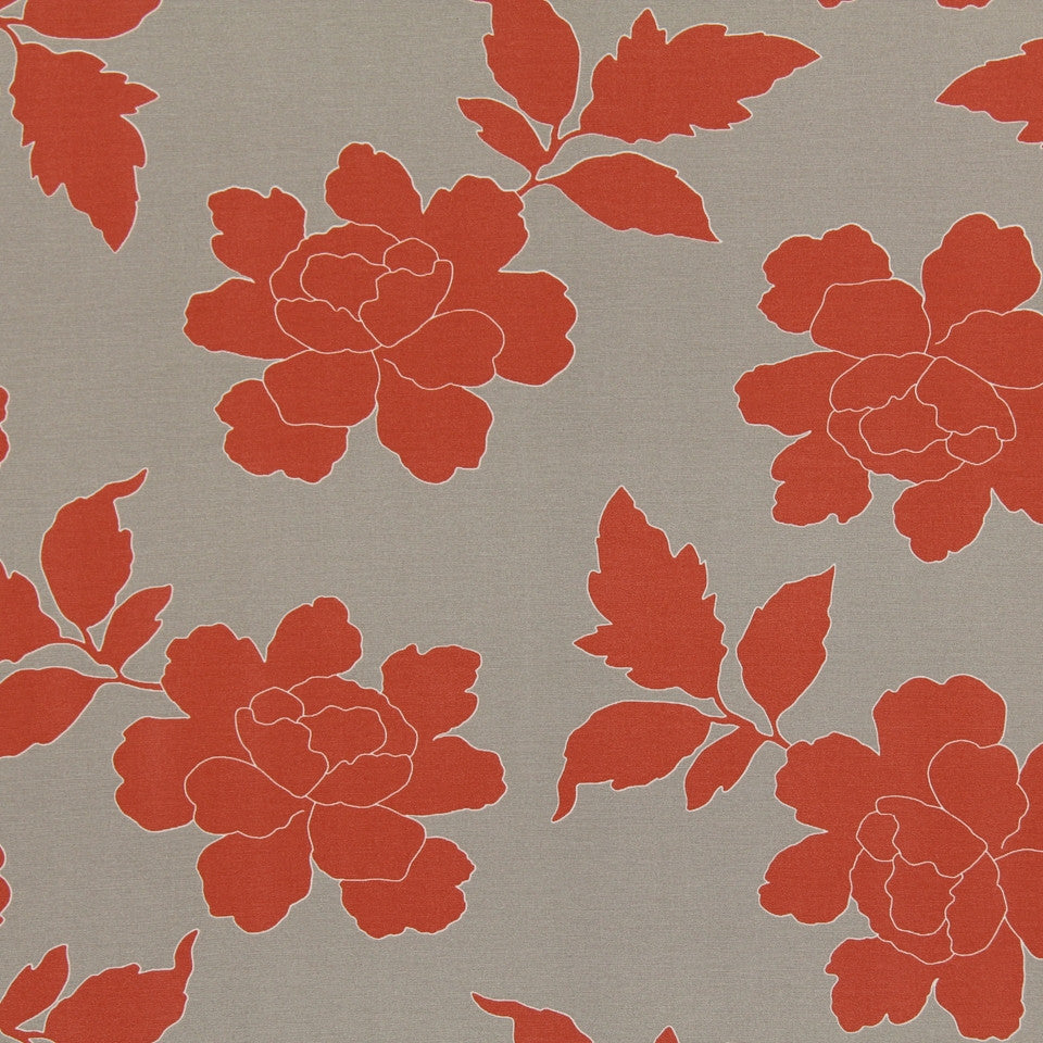 New Peony Fabric - Coral