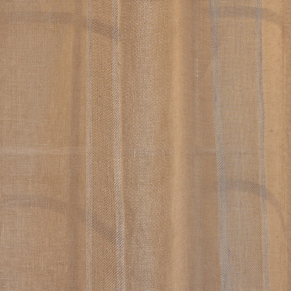NATURAL SHEERS LIGHT NEUTRALS Admiration Fabric - Wheat