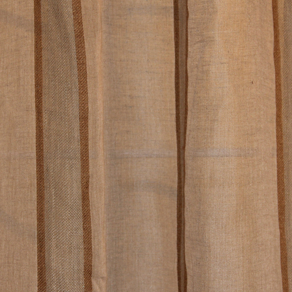 NATURAL SHEERS DARK NEUTRALS Admiration Fabric - Adobe