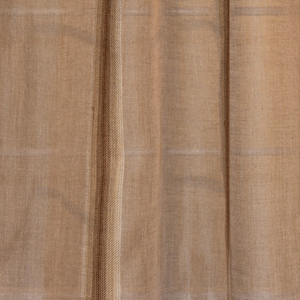 NATURAL SHEERS LIGHT NEUTRALS Angle Path Fabric - Twine