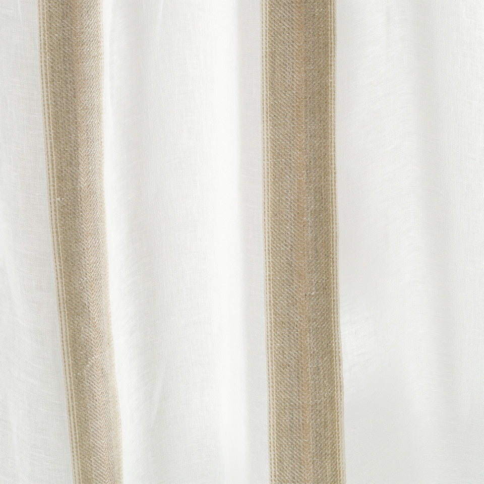 Patterned Sheers Angle Path Fabric - Dune