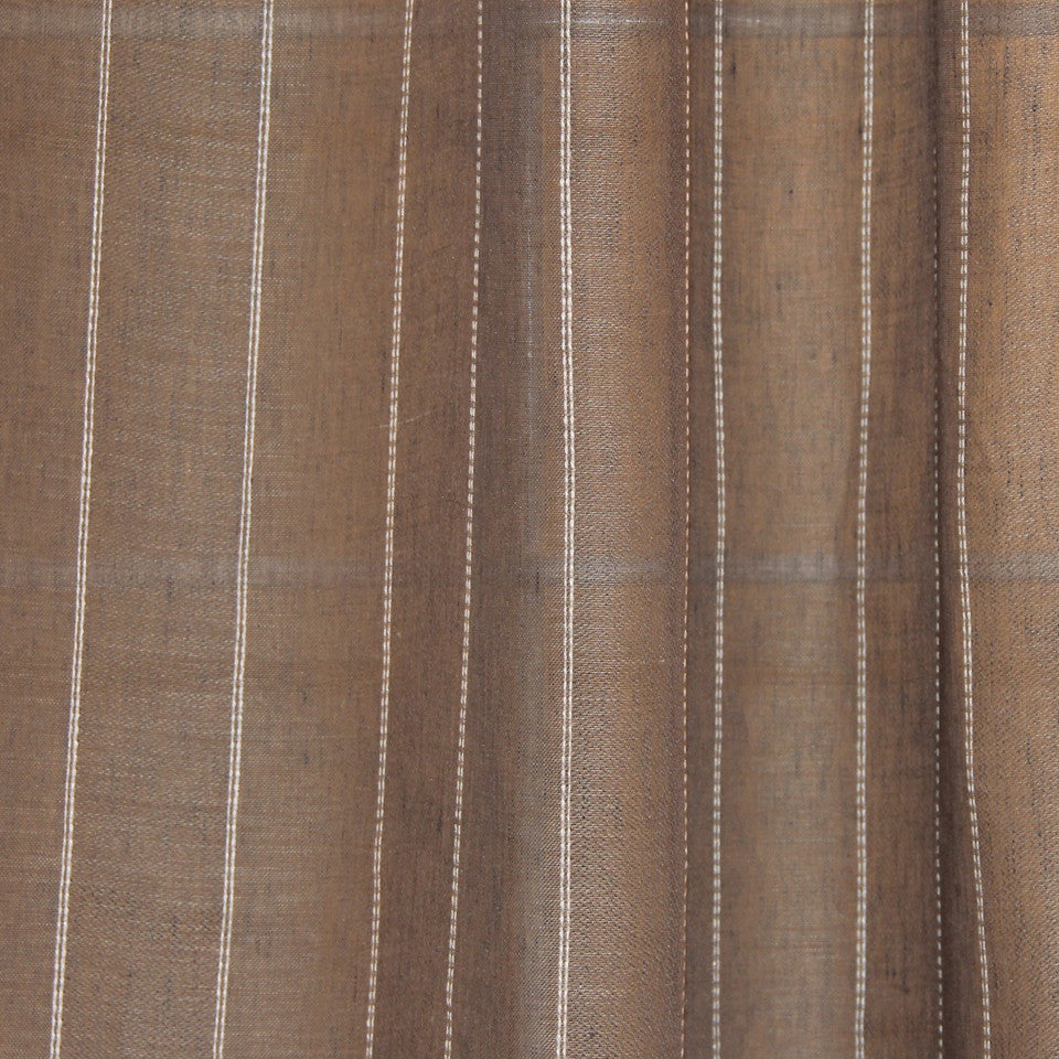 NATURAL SHEERS DARK NEUTRALS Double Day Fabric - Stone