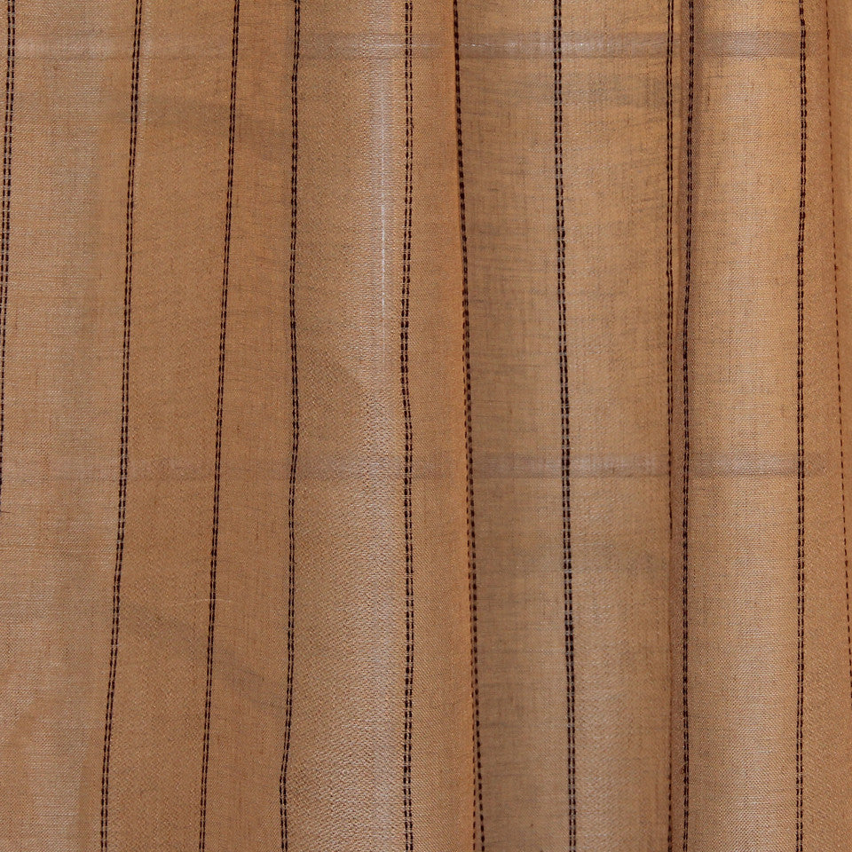 NATURAL SHEERS LIGHT NEUTRALS Double Day Fabric - Wheatgrass