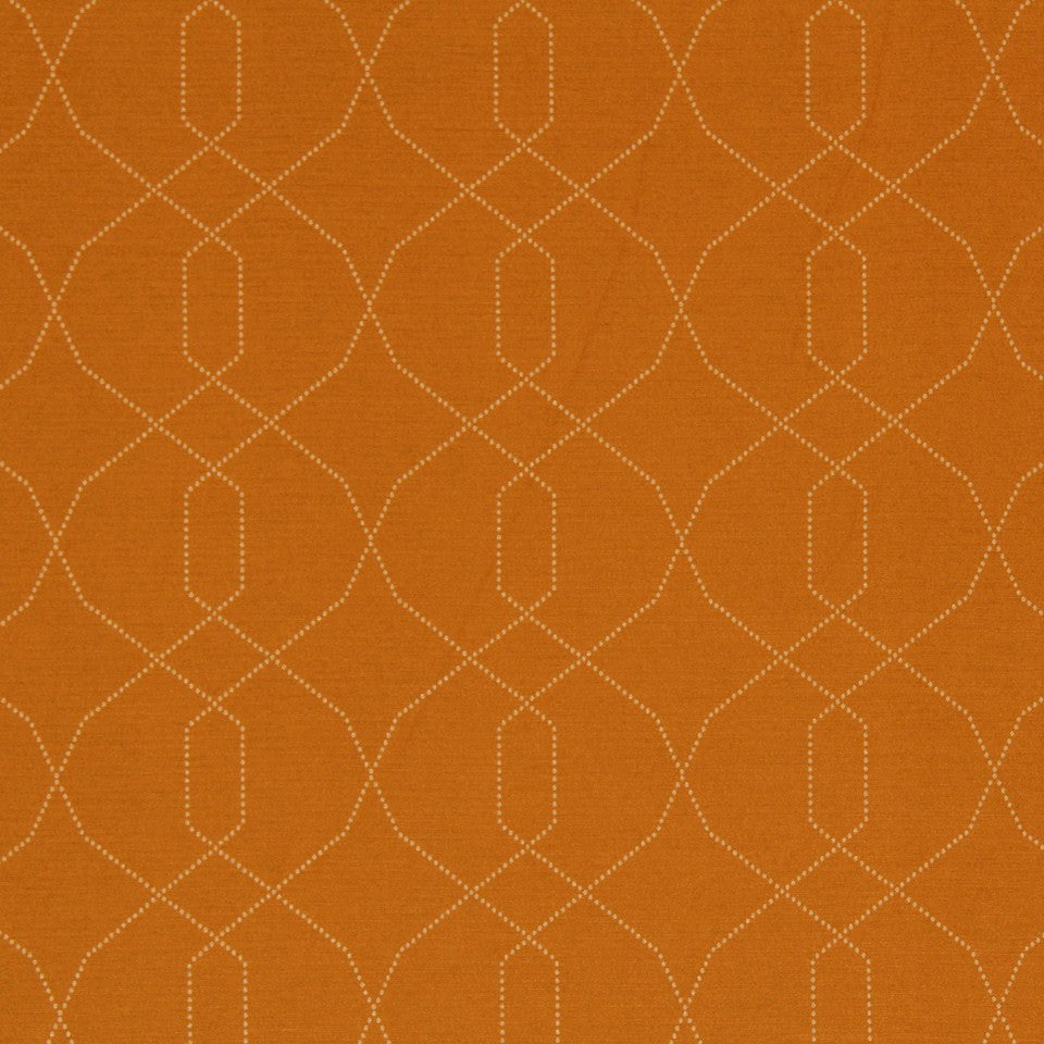 DWELLSTUDIO MODERN LUXURY Dotted Frame Fabric - Persimmon