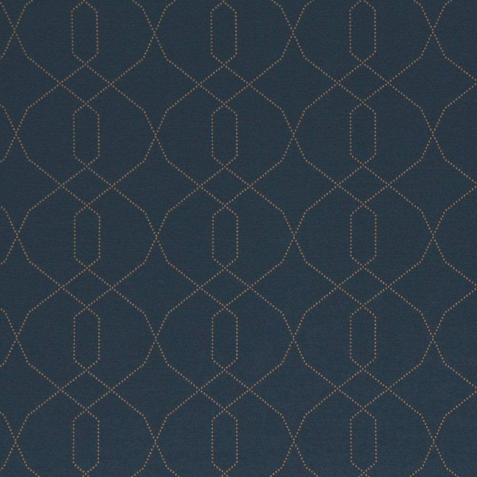 DWELLSTUDIO MODERN LUXURY Dotted Frame Fabric - Aquamarine