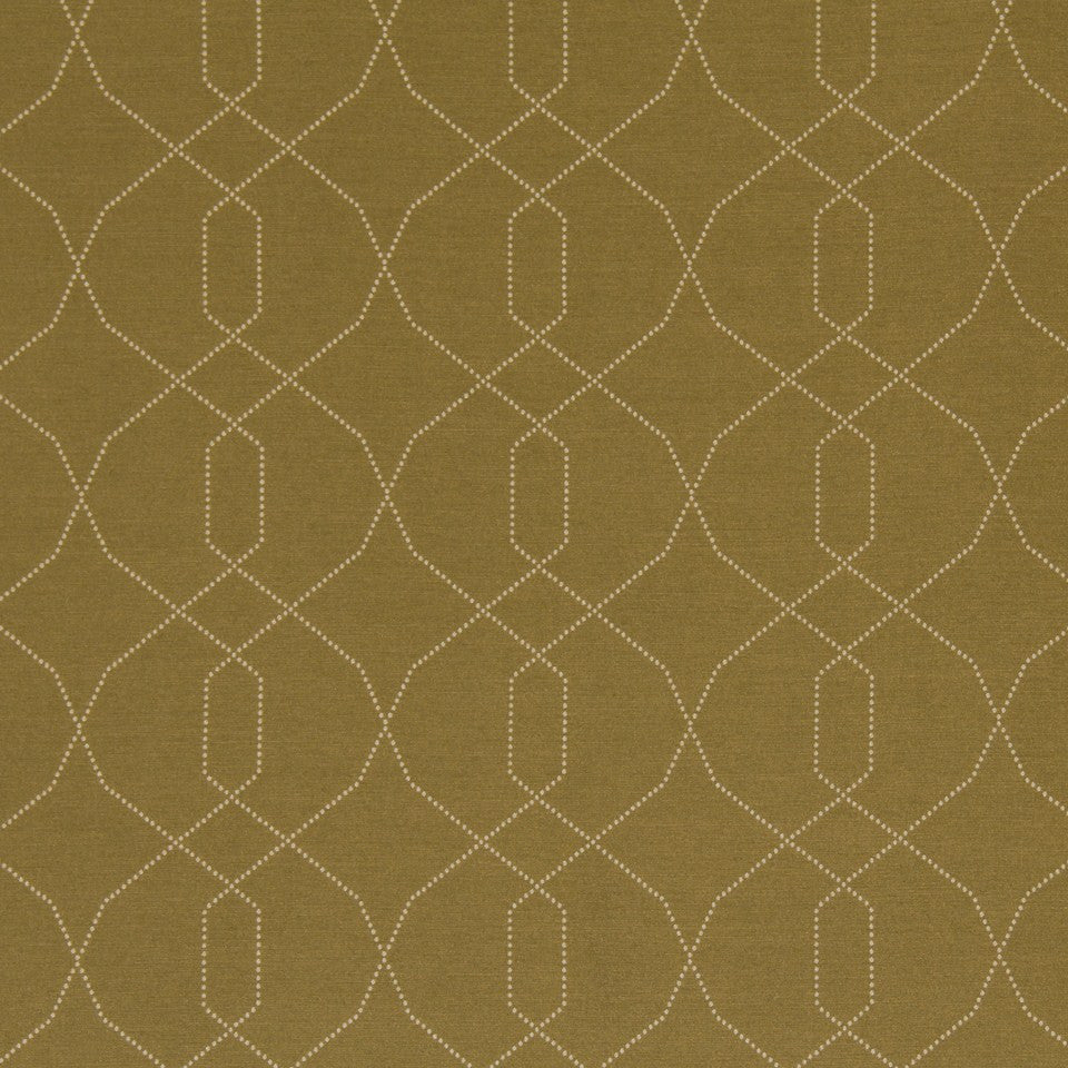 DWELLSTUDIO MODERN LUXURY Dotted Frame Fabric - Camel