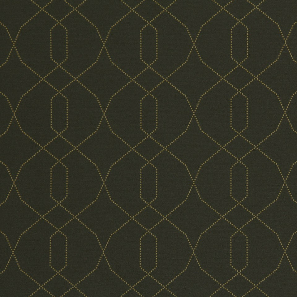 DWELLSTUDIO MODERN LUXURY Dotted Frame Fabric - Charcoal