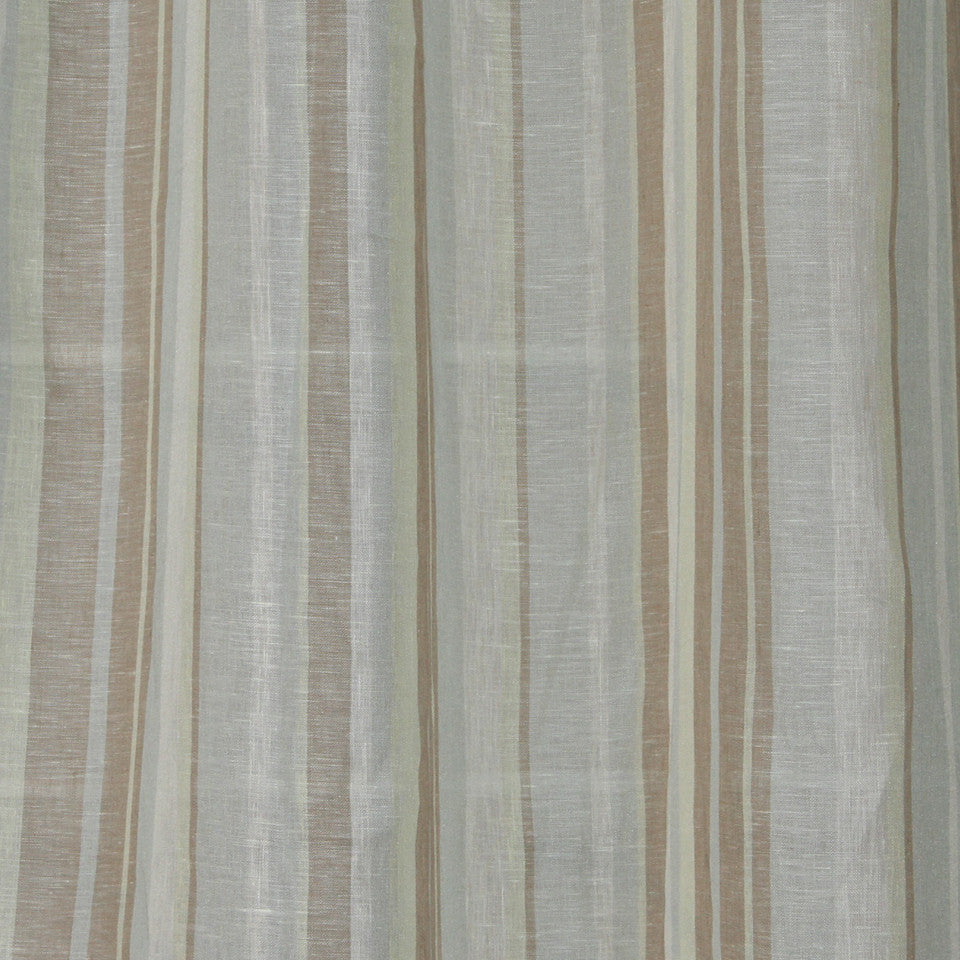 NATURAL SHEERS LIGHT NEUTRALS Narrow Path Fabric - Rain