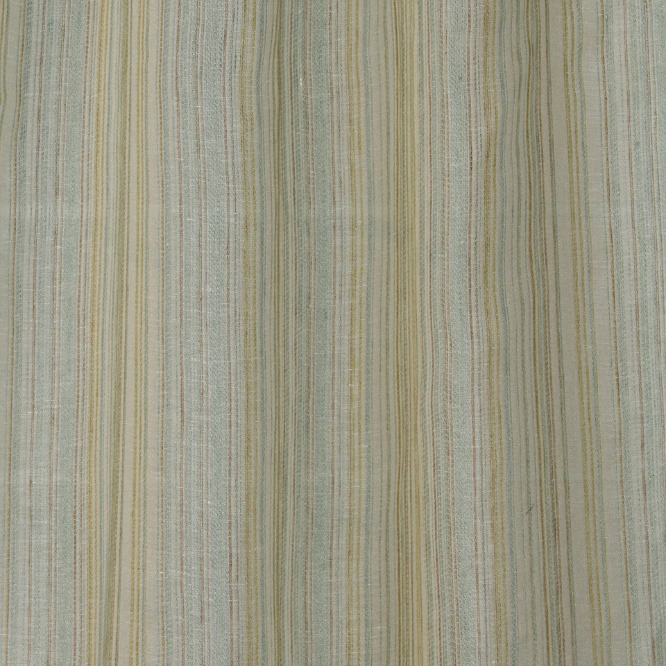 NATURAL SHEERS LIGHT NEUTRALS Crinkle Lines Fabric - Delft