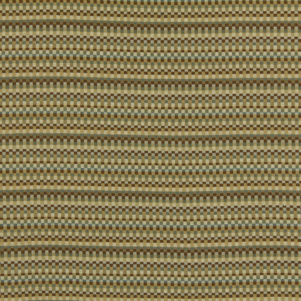 SLATE-TWINE-POOL Cube Repeat Fabric - Twine