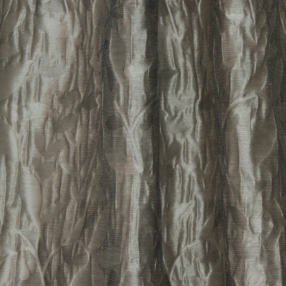 NATURAL SHEERS DARK NEUTRALS Beauty Scene Fabric - Mineral