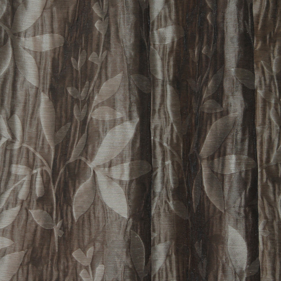 NATURAL SHEERS DARK NEUTRALS Beauty Scene Fabric - Dusk