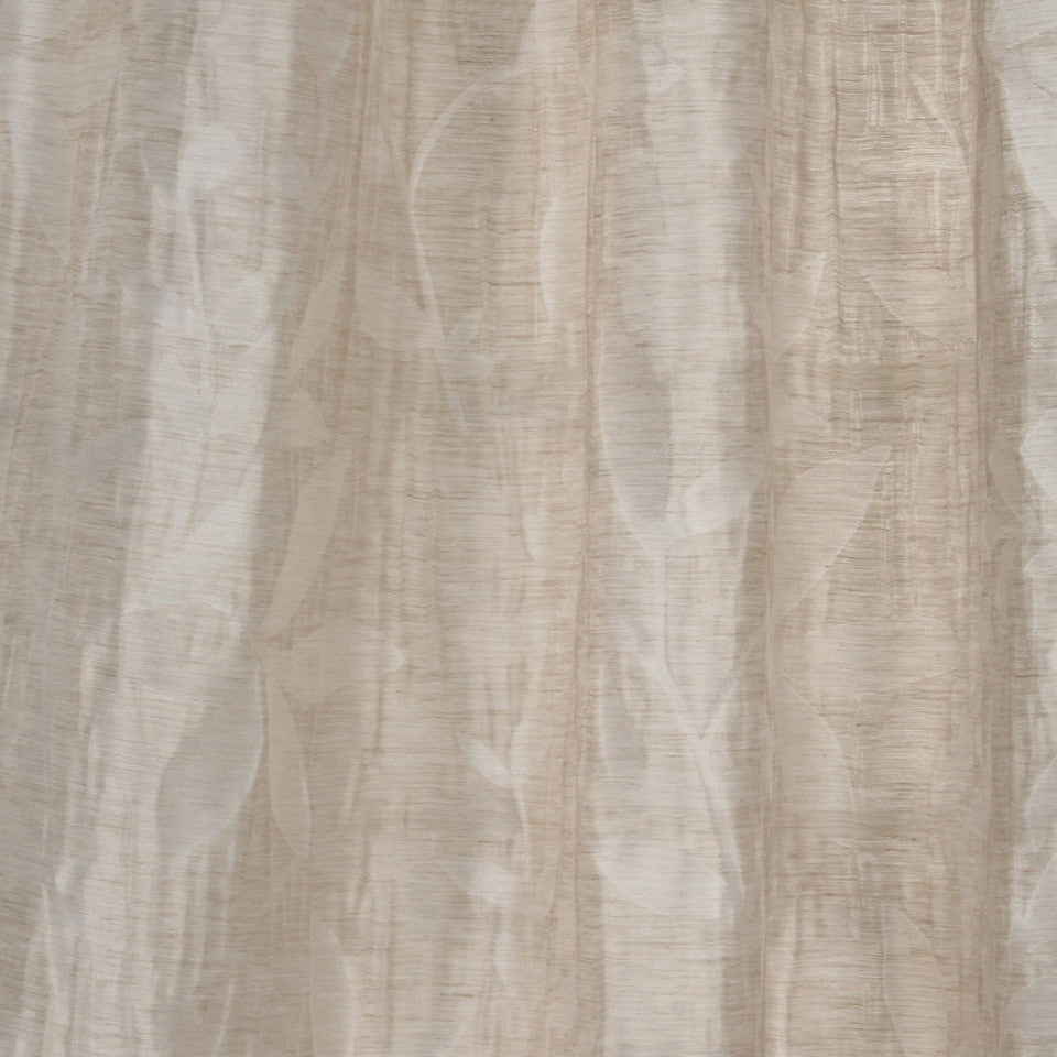 NATURAL SHEERS DARK NEUTRALS Beauty Scene Fabric - Dune