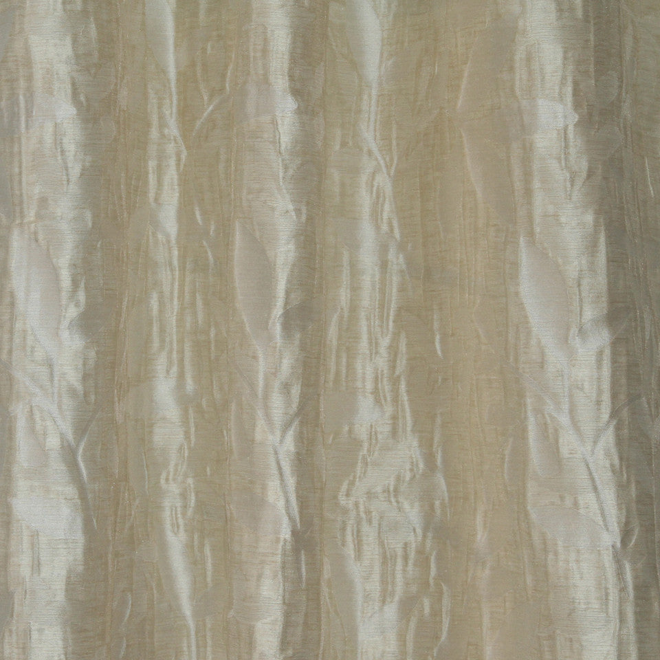 NATURAL SHEERS LIGHT NEUTRALS Beauty Scene Fabric - Cornsilk