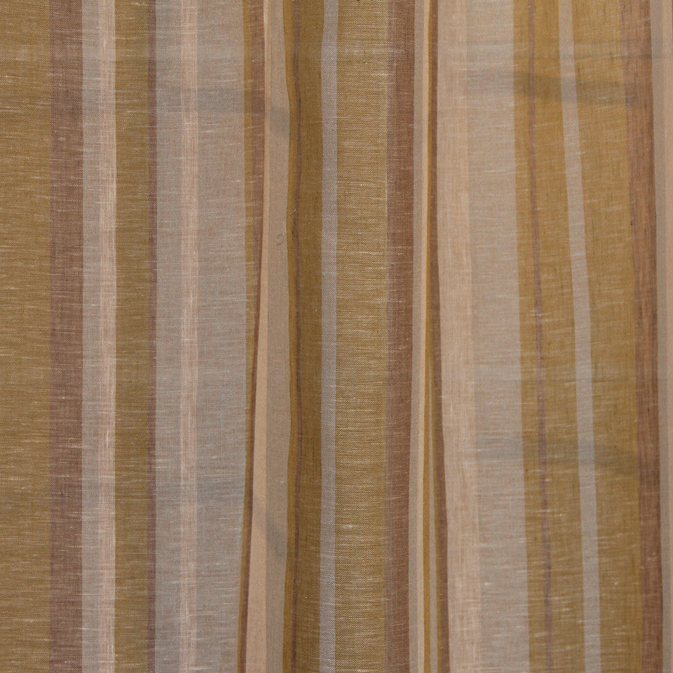 NATURAL SHEERS LIGHT NEUTRALS Narrow Path Fabric - Seascape