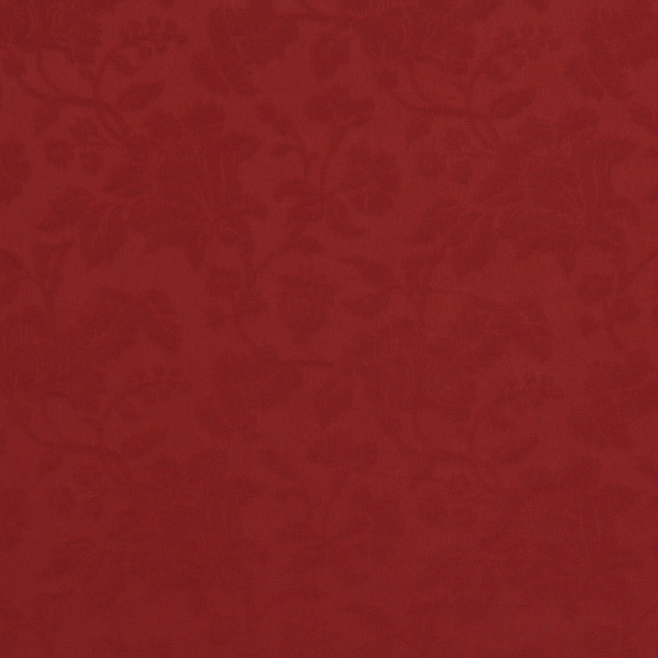 LAVA-RED HOT-GARNET Foilleret Fabric - Poppy
