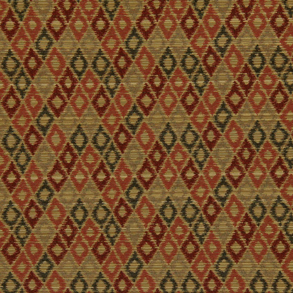 CRYPTON TRANSITIONAL Unique Diamond Fabric - Pomegranate