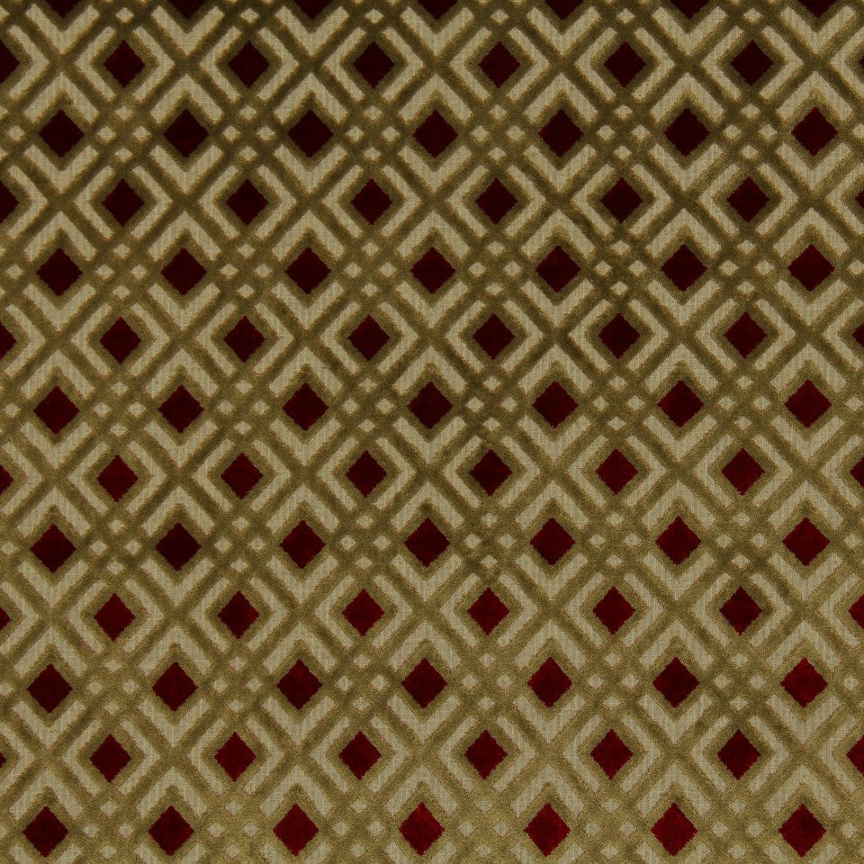 DWELLSTUDIO MODERN LUXURY Interlock Fabric - Scarlet
