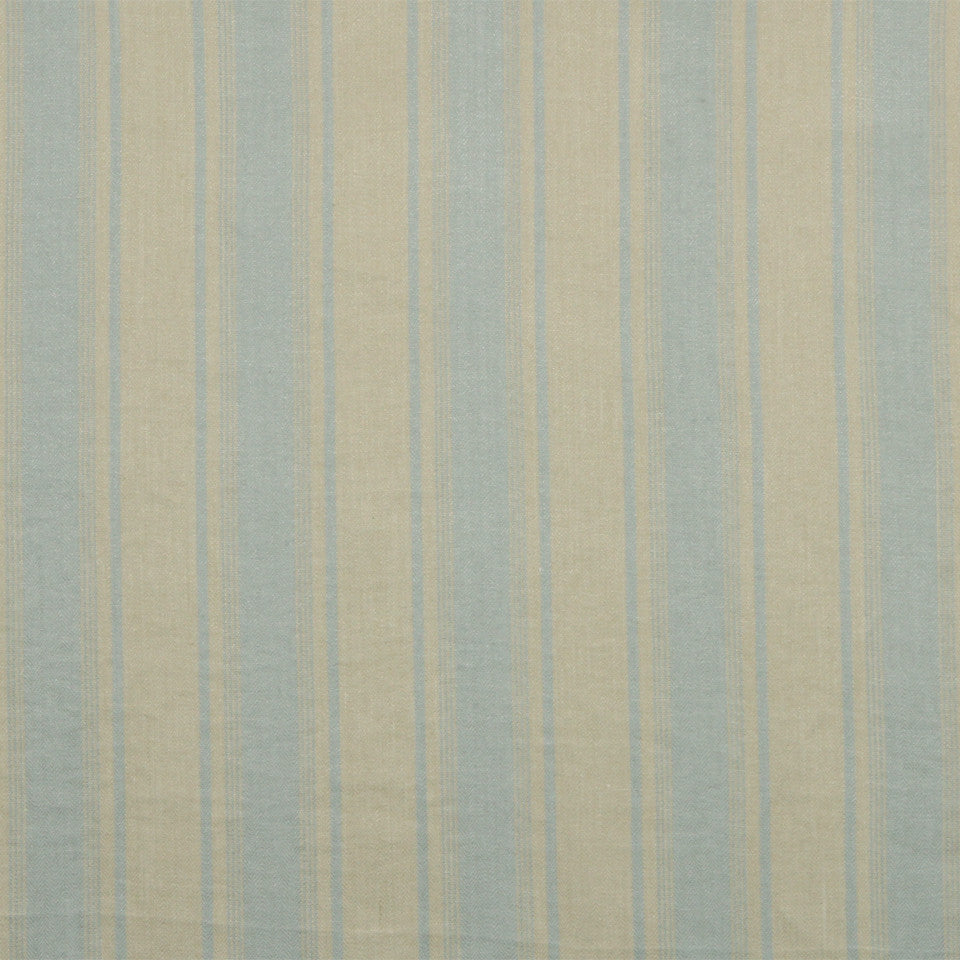 RUSTIC STRIPES AND PLAIDS UPH Claire Stripe Fabric - Ice