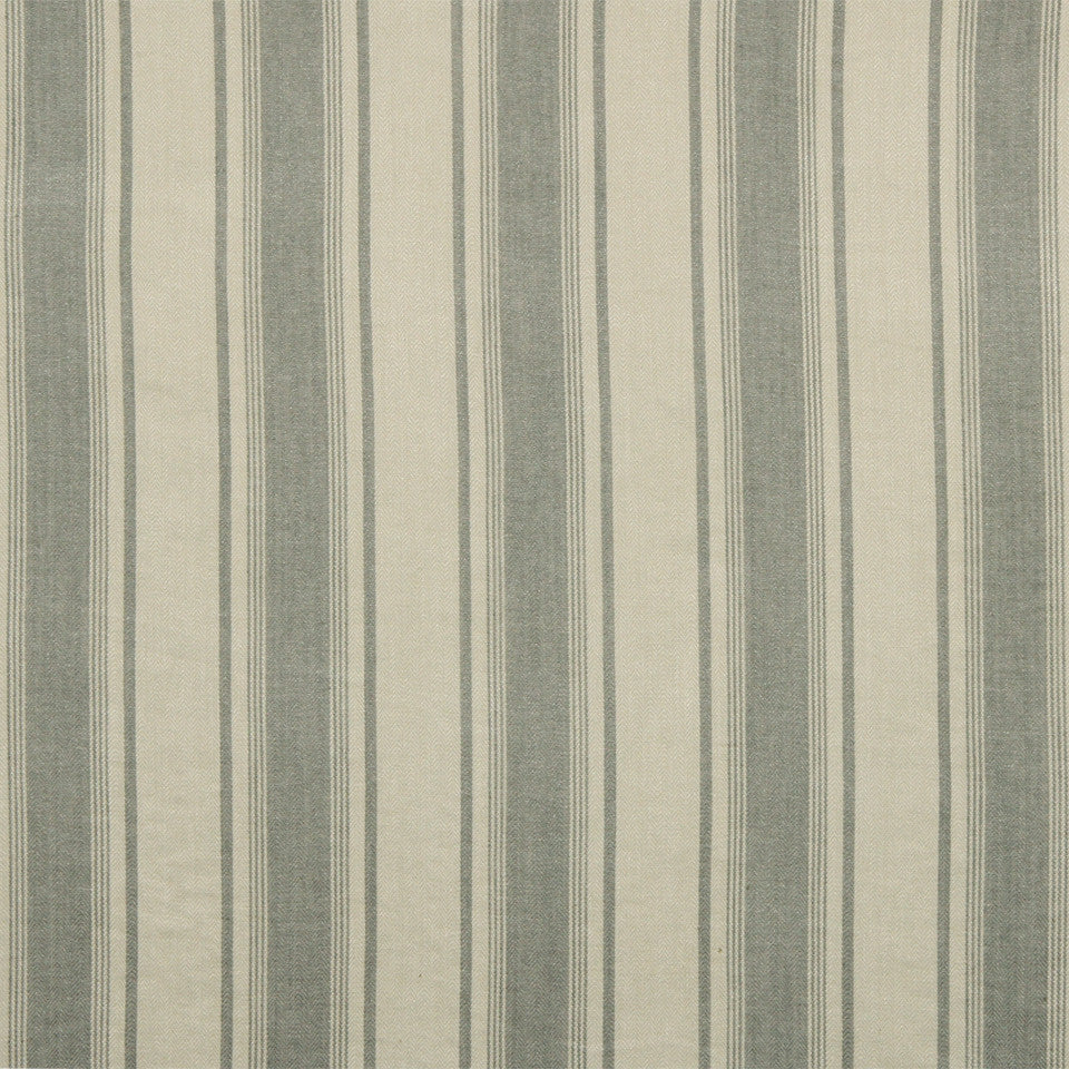 RUSTIC STRIPES AND PLAIDS UPH Claire Stripe Fabric - Pewter