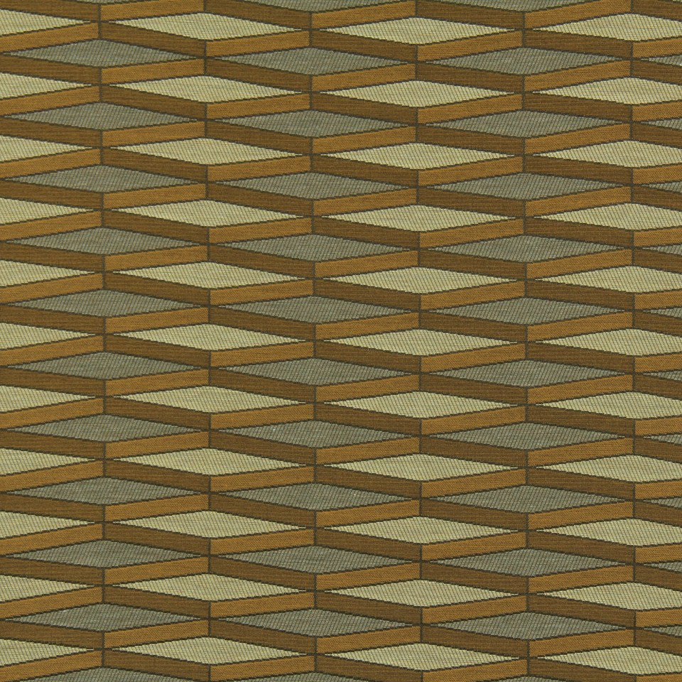 DWELLSTUDIO MODERN LUXURY Angled Quad Fabric - Butterscotch