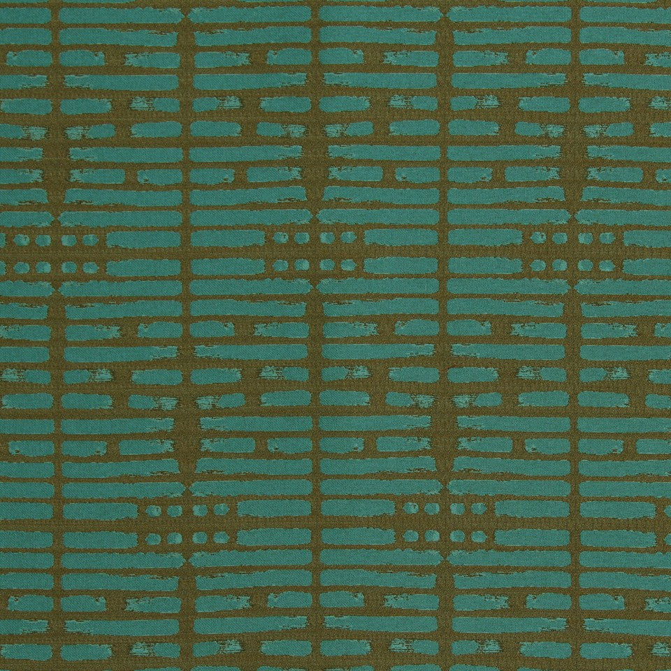 DWELLSTUDIO MODERN LUXURY Brushwork Fabric - Aquamarine