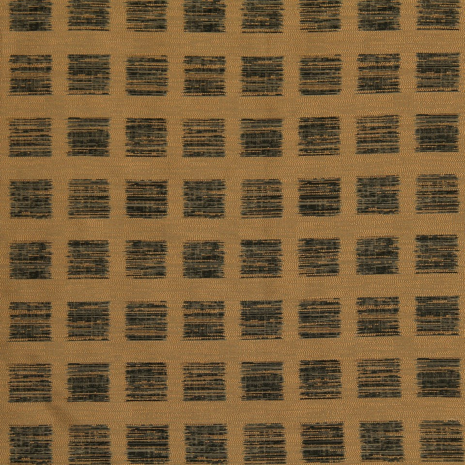 DWELLSTUDIO MODERN LUXURY Ikat Squares Fabric - Camel