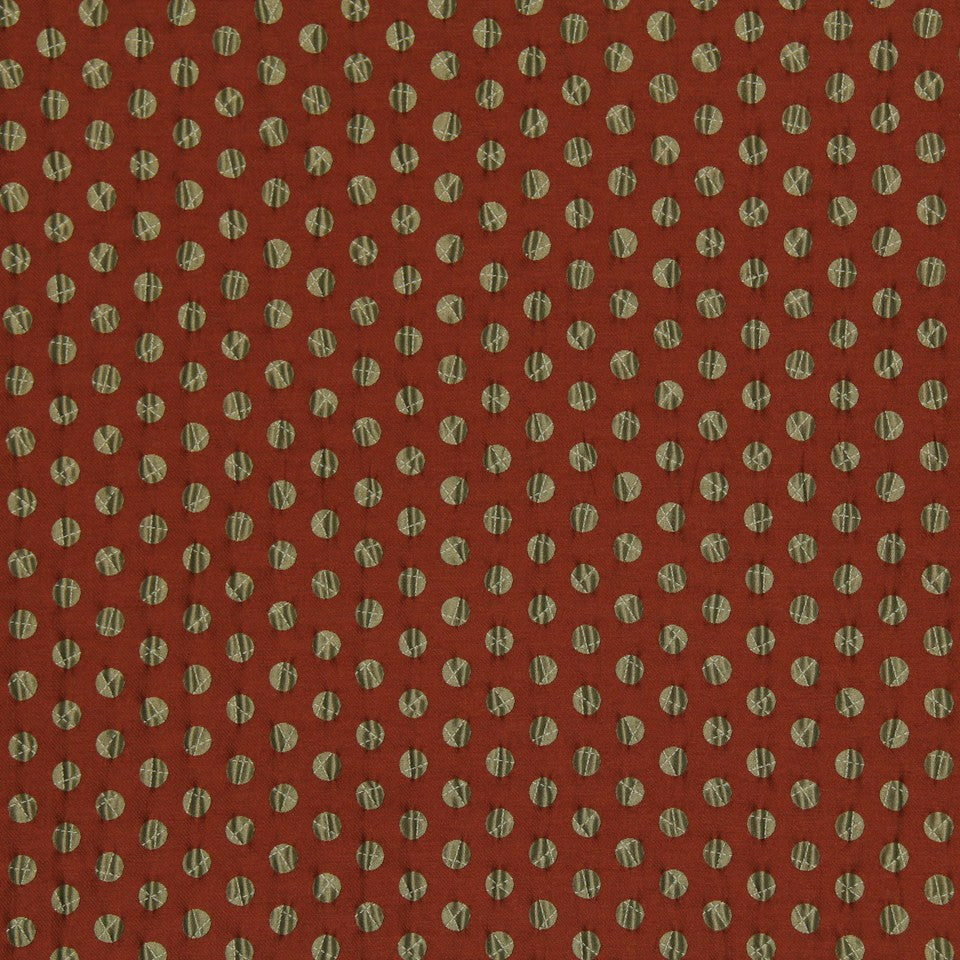 DWELLSTUDIO MODERN LUXURY Pucker Dot Fabric - Cayenne