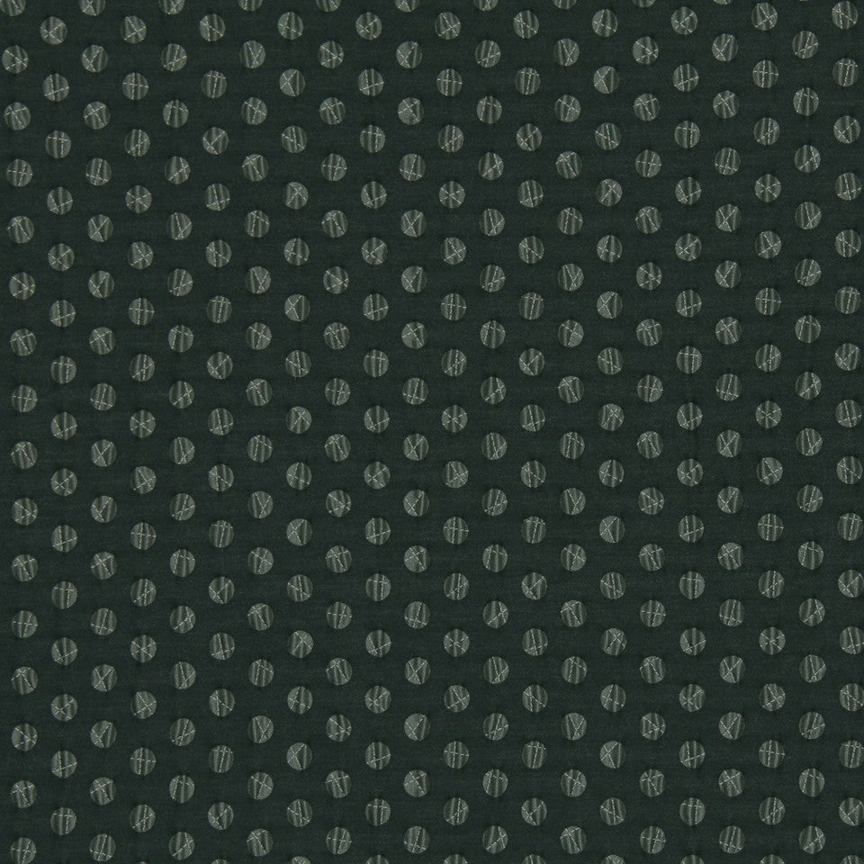 DWELLSTUDIO MODERN LUXURY Pucker Dot Fabric - Ebony