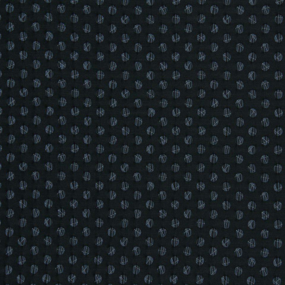DWELLSTUDIO MODERN LUXURY Pucker Dot Fabric - Indigo