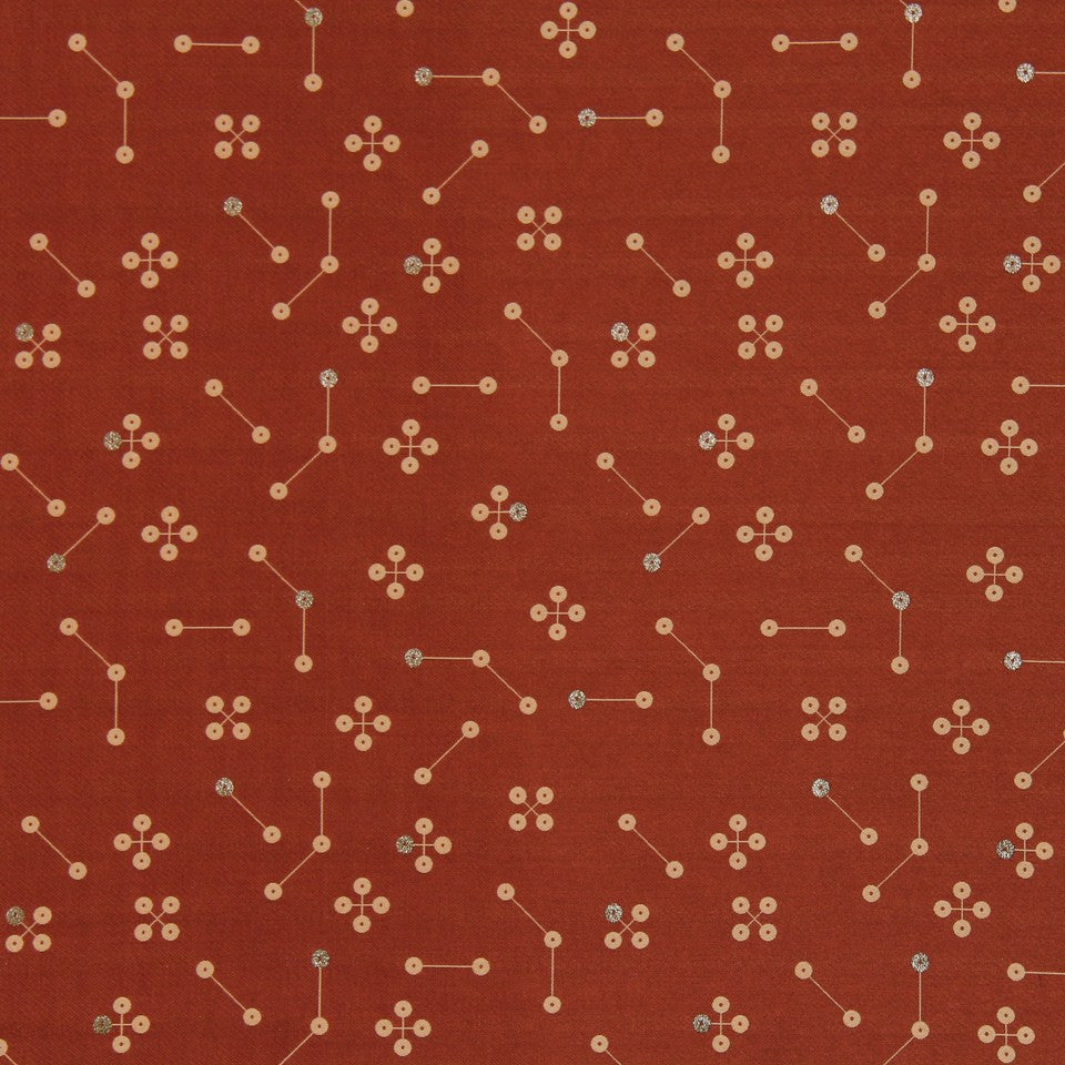 DWELLSTUDIO MODERN LUXURY Constellation Fabric - Cayenne