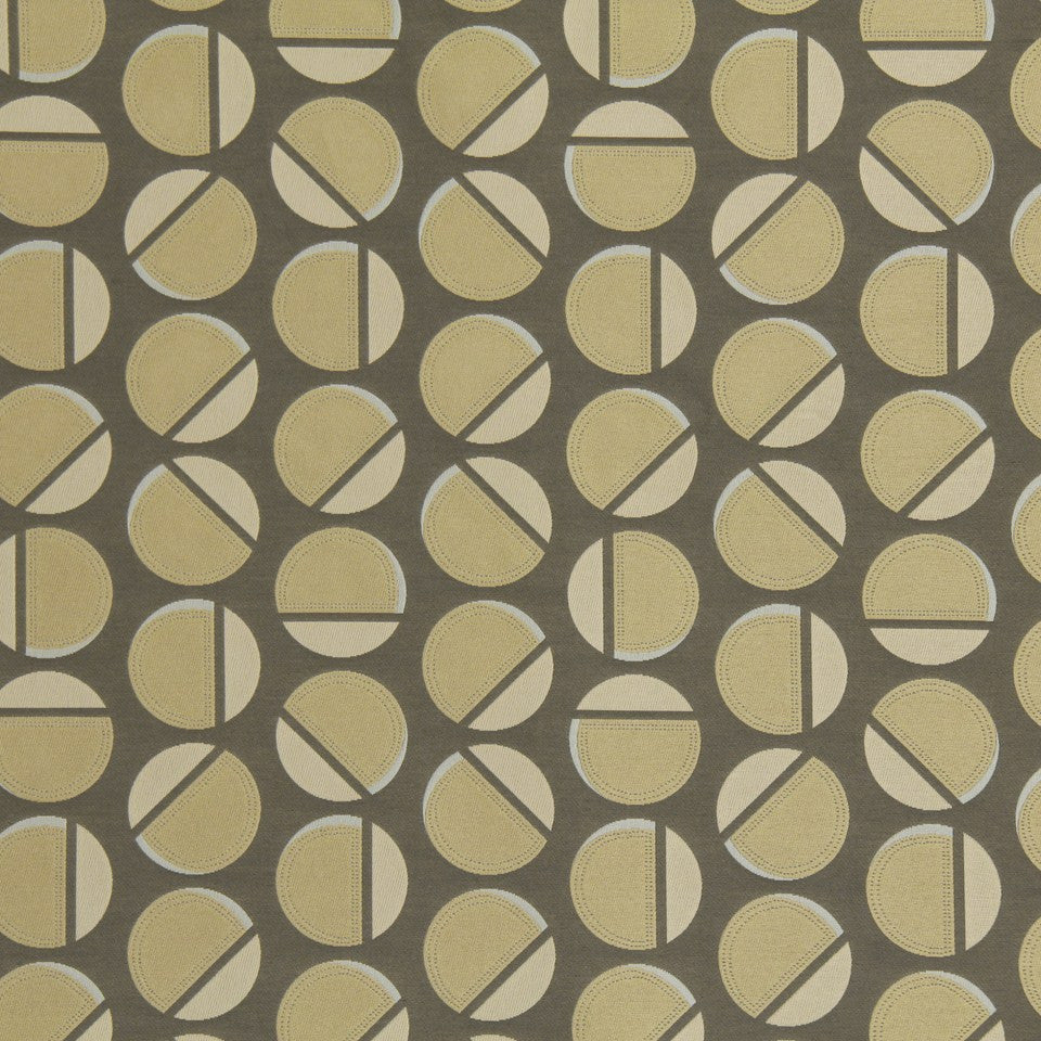 DWELLSTUDIO MODERN LUXURY Deco Dot Fabric - Shale