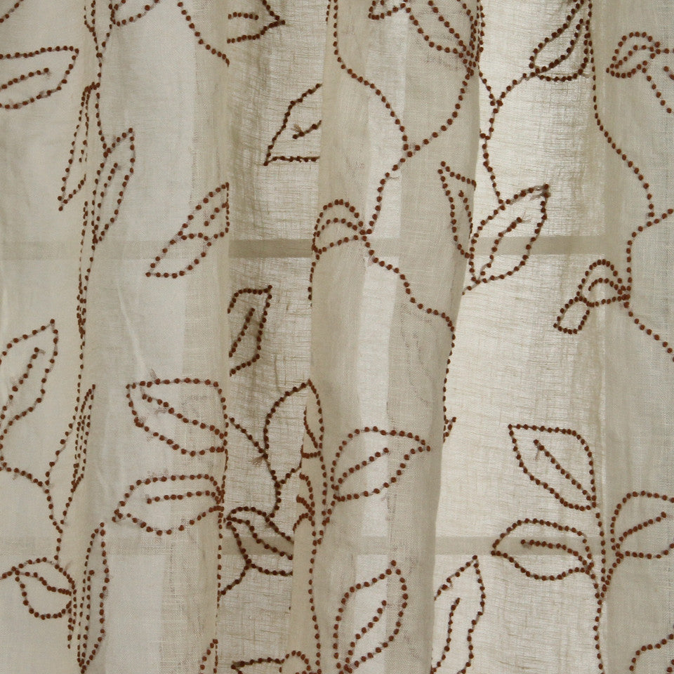 NATURAL SHEERS DARK NEUTRALS Knotted Sheers Fabric - Rustica