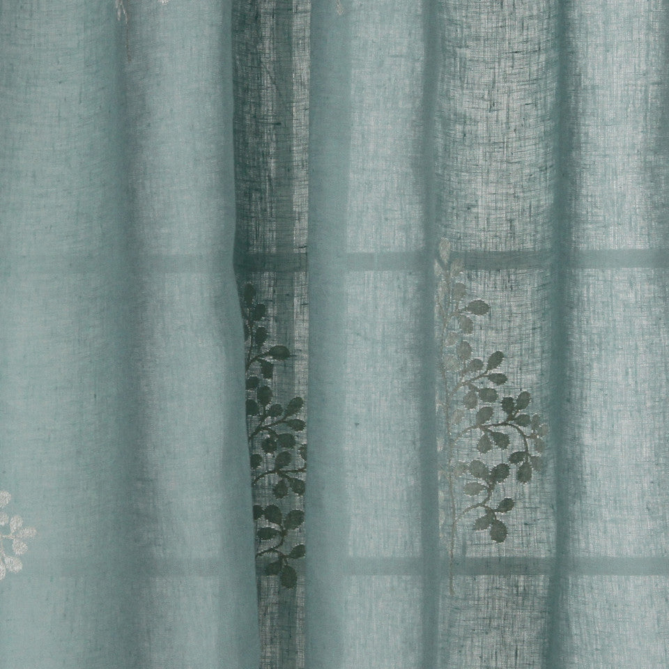 NATURAL SHEERS LIGHT NEUTRALS Pearl Drop Fabric - Ocean