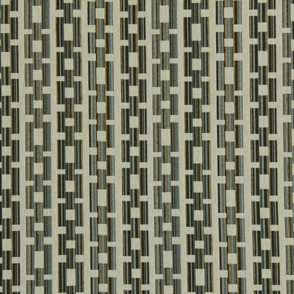 SLATE-TWINE-POOL Square Link Fabric - Slate