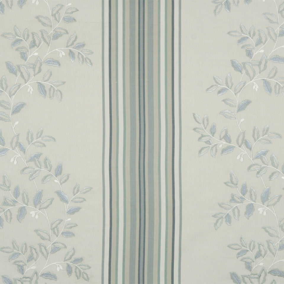 RUSTIC STRIPES AND PLAIDS MP Belle Stripe Fabric - Dove Blue