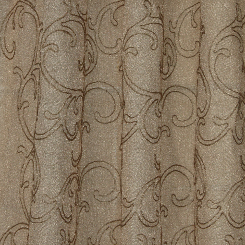 NATURAL SHEERS LIGHT NEUTRALS Silly String Fabric - Raffia