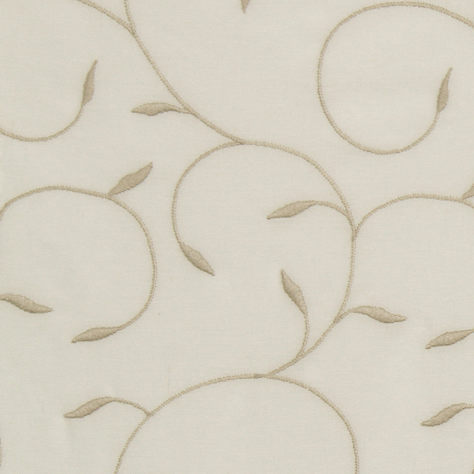 NATURAL SHEERS DARK NEUTRALS May Love Fabric - Buff